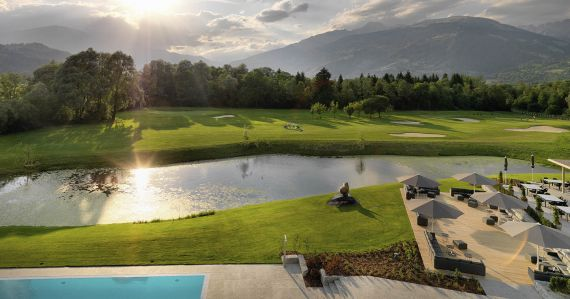Dolomitengolf Suites Golf Course Sunset Austria